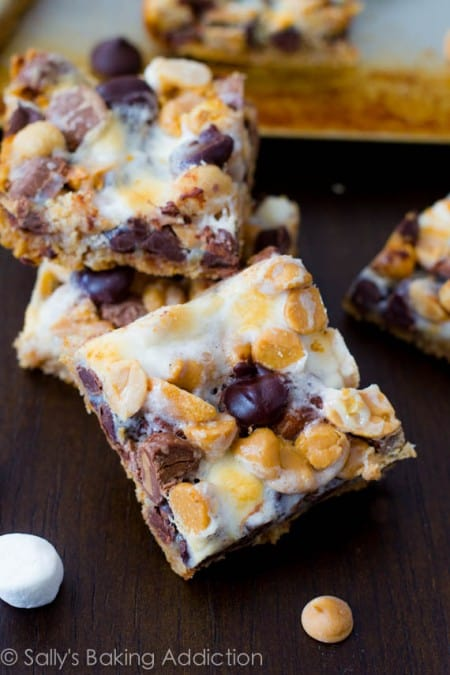 Peanut Butter Smore Magic Cookie Bars