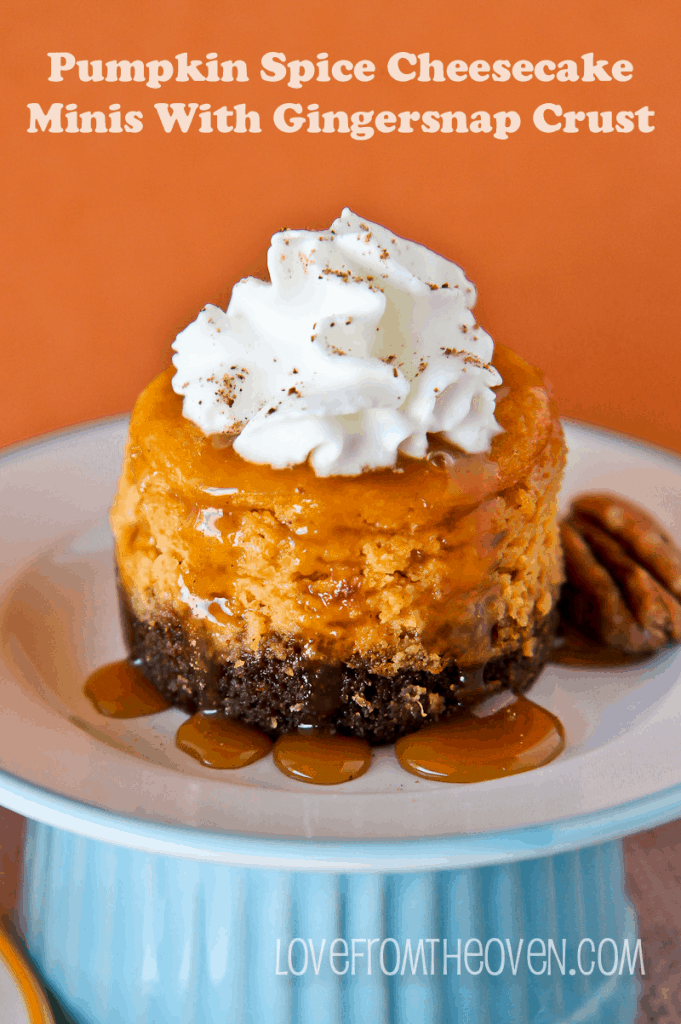 Pumpkin Spice Cheesecake Minis With Gingersnap Crust
