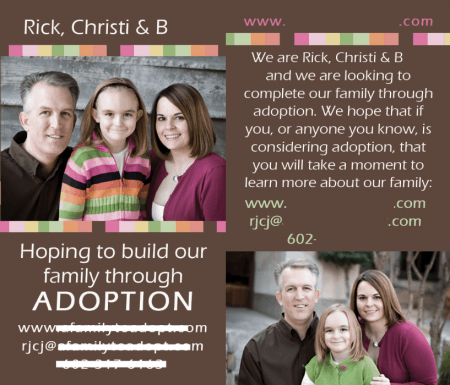 Adoption Pass Along Cards