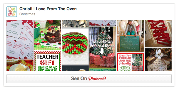 Christmas Pinterest Boards