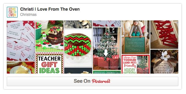 Christmas Pinterest Boards