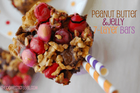 Peanut Butter And Jelly Magic Bar Recipe