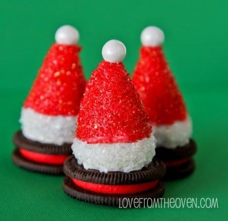 Oreo Truffles Trees And Santa Hats - Love From The Oven