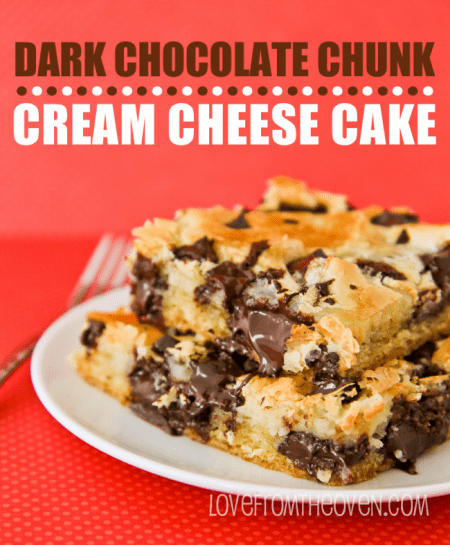 Dark Chocolate Chunk Cream Cheese Plate