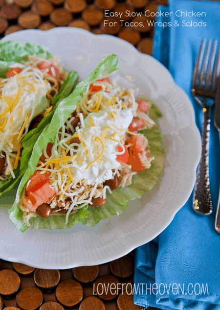 Easy Slow Cooker Chicken Tacos