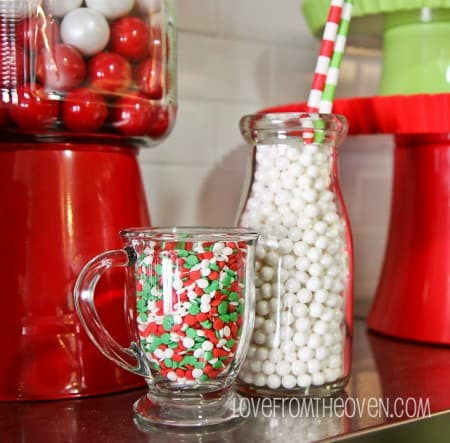 Decorating with milk bottles