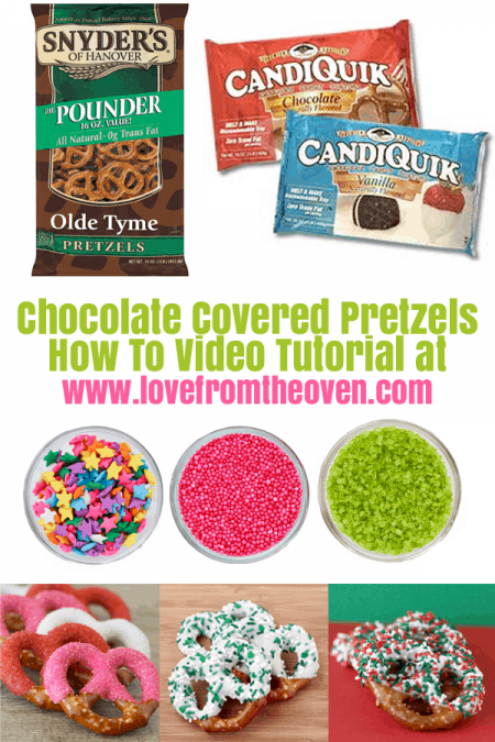 See how to make chocolate covered pretzels. It's so easy!