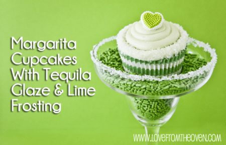 Margarita Cupcakes With Tequila Glaze And Lime Frosting