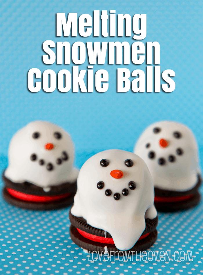 Melting Snowmen Cookie Balls