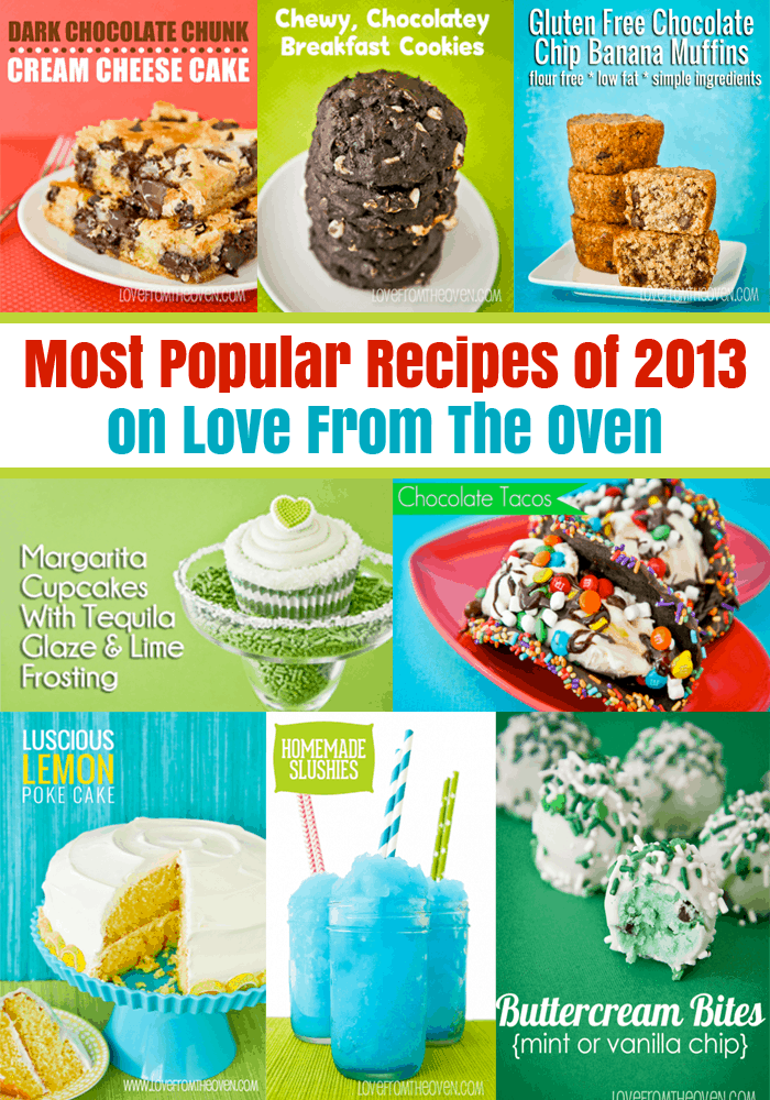 Most Popular Recipes From 2013 on Love From The Oven