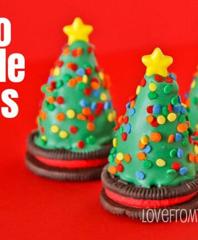 Oreo Truffles Trees And Santa Hats