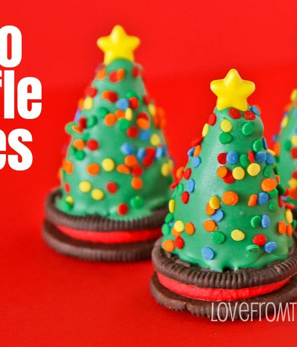 Oreo Truffles Trees And Santa Hats