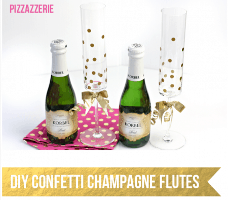 New Year's Eve Ideas Confetti Champagne Flutes