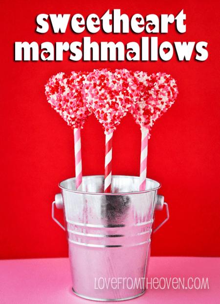 Valentine Sprinkle Marshmallow Pops