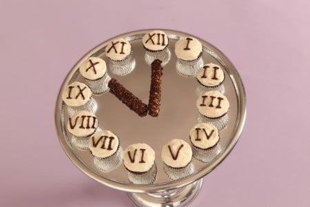 New Year's Eve Cupcake Clock
