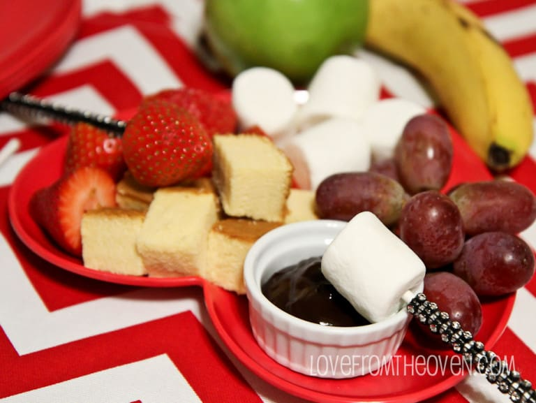Chocolate Fondue - Love From The Oven