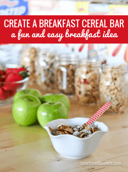 Create Your Own Breakfast Cereal Buffet
