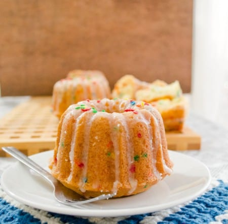 Funfetti Bundt Cakes