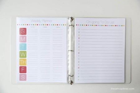 Free Printable Family Planner from I Heart Naptime