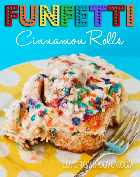 Sprinkle Cinnamon Rolls Great For Birthday Breakfasts