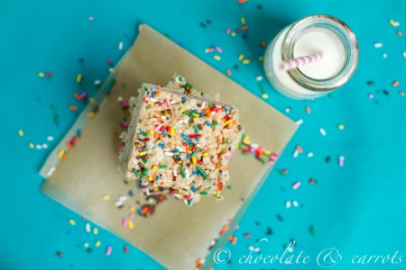 Funfetti Krispies Treats