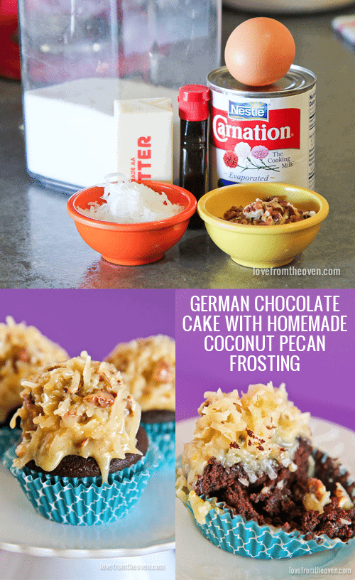 German Chocolate Cake With Homemade Coconut Pecan Frosting