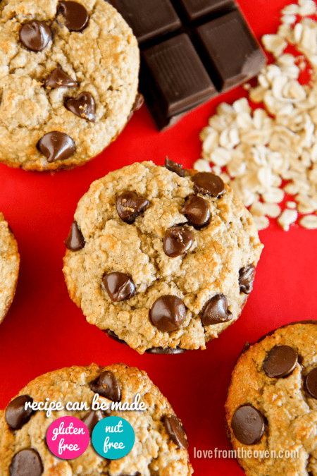 Gluten Free Chocolate Chip Cookie Muffins