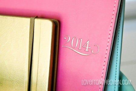 Getting organized in 2014 with calendars and planners.
