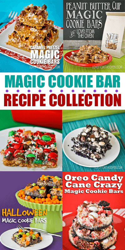 Magic Cookie Bar Recipe Round Up