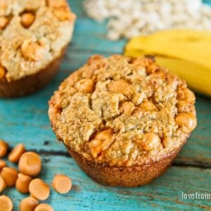 Butterscotch Banana Muffins