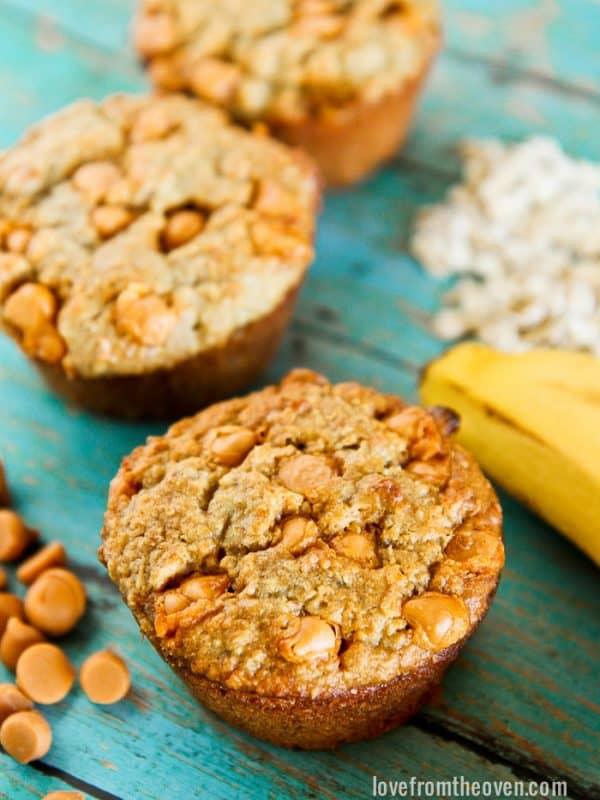Butterscotch Banana Muffins