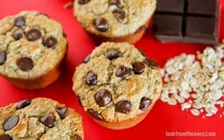 Chocolate Chip Oatmeal Cookie Muffins