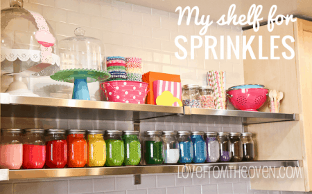 Storing Sprinkles in Mason Jars