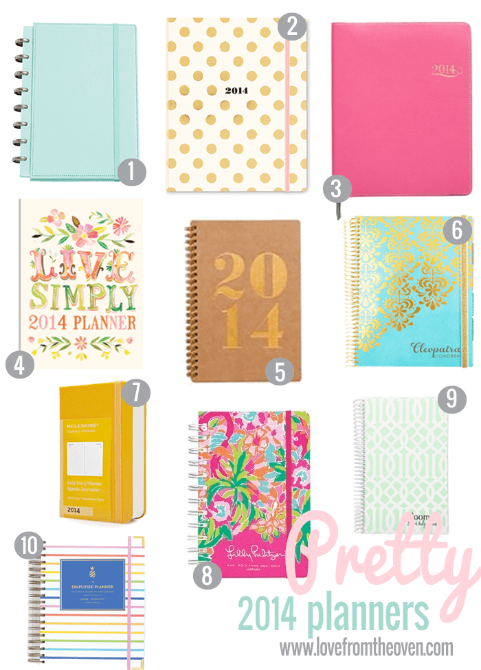 Pretty Calendars and Planners For 2014