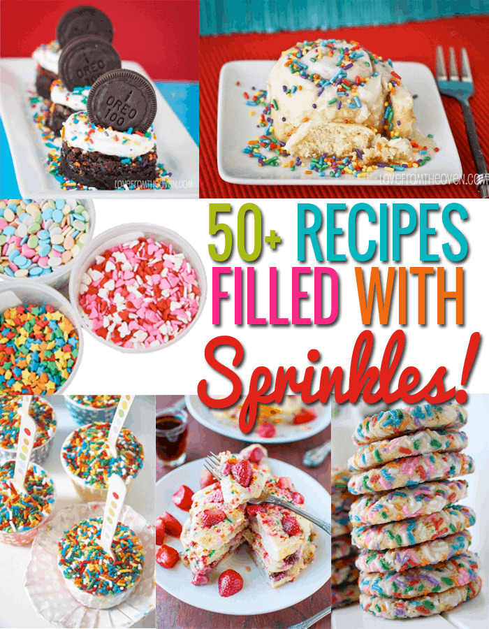 An incredible collection of recipes with sprinkles