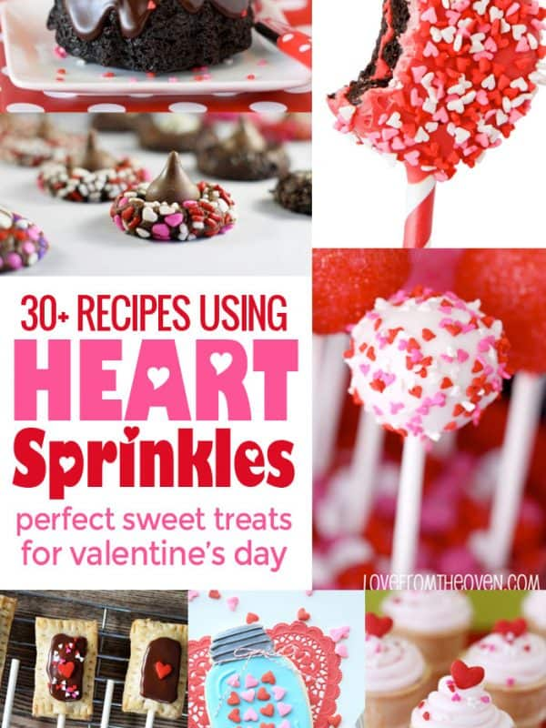 Valentine Heart Sprinkles Recipe Round Up