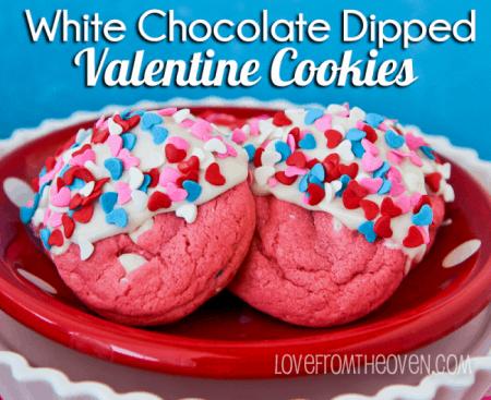 Valentine Cookies With Sprinkles