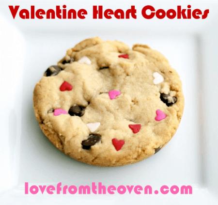 Valentine Sprinkle Cookies