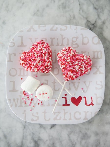 Valentine Krispie Treat Pops