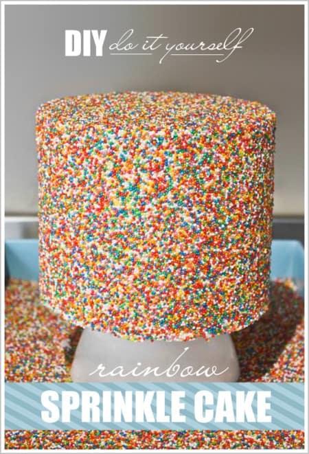 DIY Sprinkle Cake