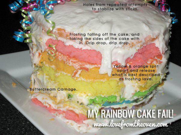Rainbow Cake Fail