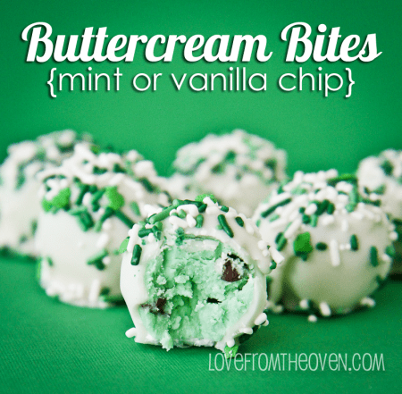 Mint Buttercream Bites