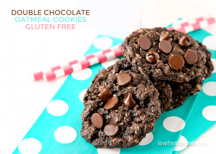 Gluten Free Chocolate Oatmeal Cookies