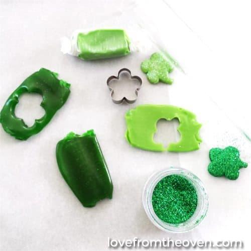Glitter Shamrocks For St Patricks Day