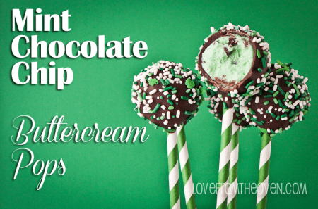 Mint Chocolate Chip Buttercream Pops