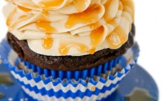 Peanut Butter Caramel Chocolate Cupcakes