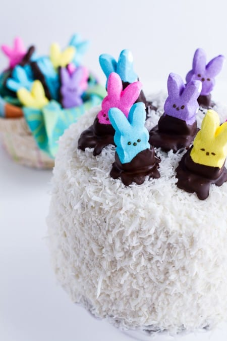 Coconut Peeps Cake