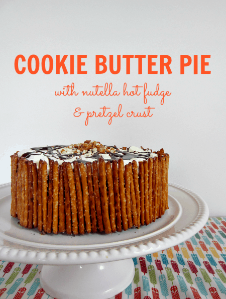 Cookie Butter Pie With Pretzel Crust