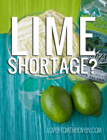 There is a lime shortage going on - hold on to your margaritas!