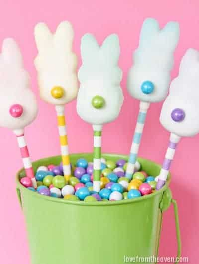Easy Easter Peeps Pops